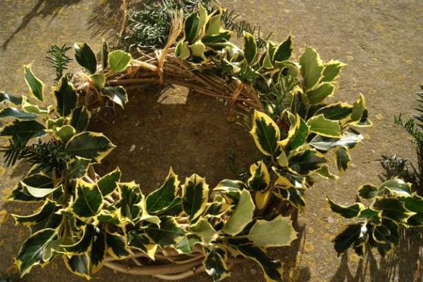Wreath made at Uppark